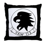 VAW 113 Black Eagles Throw Pillow