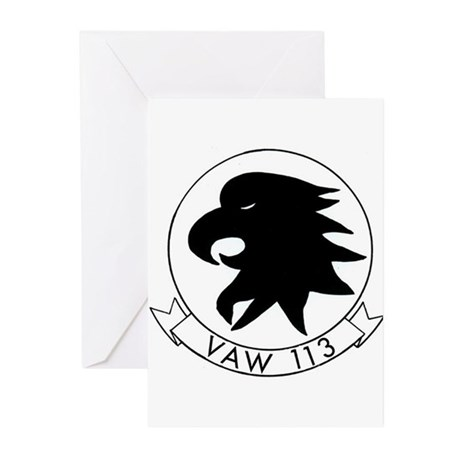 VAW 113 Black Eagles Greeting Cards (Pk of 10)
