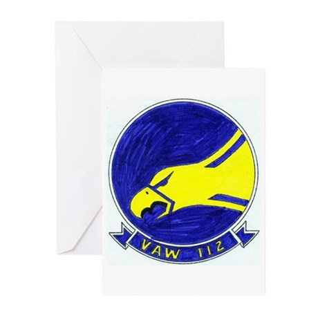 VAW 112 Golden Hawks Greeting Cards (Pk of 10)