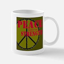 """""""Peace Through Strength"""" Mug"""
