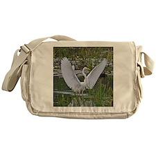 Great Egret Messenger Bag