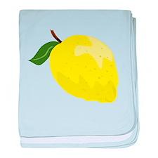 Yellow Lemon baby blanket