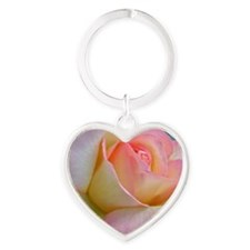 SOFTLY ROSE Heart Keychain