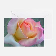SOFTLY ROSE Greeting Card