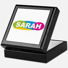 """Sarah Oval Colors"" Keepsake Box"