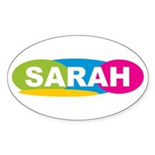 """Sarah Oval Colors"" Oval Decal"