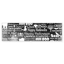 Halloween Grunge (blk) Bumper Sticker