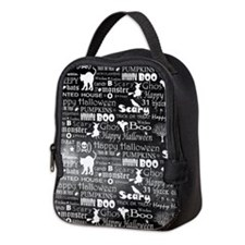 Halloween Grunge (blk) Neoprene Lunch Bag