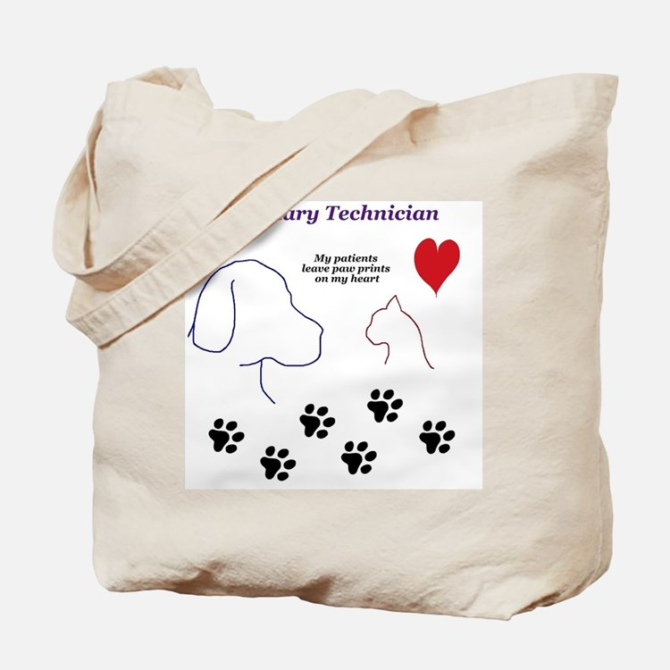 Veterinary Technician-Paw Prints on My He Tote Bag