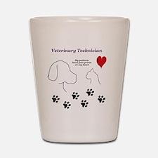 Veterinary Technician-Paw Prints on My  Shot Glass