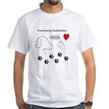Veterinary Technician-Paw Prints  Shirt