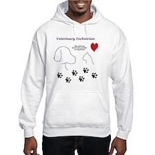 Veterinary Technician-Paw Prints Hoodie