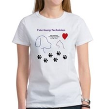 Veterinary Technician-Paw Prints o Tee
