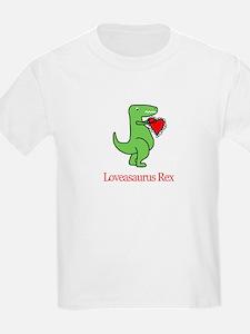 Loveasaurus Rex Kids T-Shirt