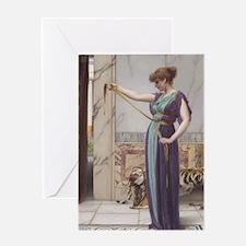 A Pompeiian Lady by John William God Greeting Card