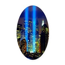 911 Memorial  Oval Car Magnet