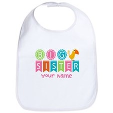 Colorful Whimsy Bird Big Sister Bib