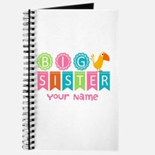 Colorful Whimsy Bird Big Sister Journal