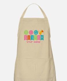 Colorful Whimsy Bird Big Sister Apron