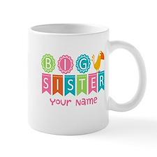 Colorful Whimsy Bird Big Sister Mug