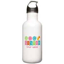 Colorful Whimsy Bird Big Sister Water Bottle