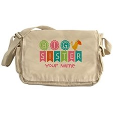 Colorful Whimsy Bird Big Sister Messenger Bag