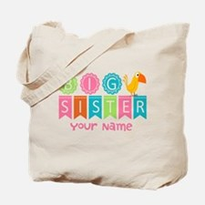 Colorful Whimsy Bird Big Sister Tote Bag