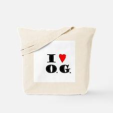 I Love O G Tote Bag