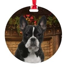 Frenchie Christmas Ornament