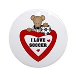 Soccer Bear Ornament (Round)