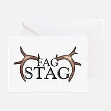 Fag Stag Greeting Cards (Pk of 10)