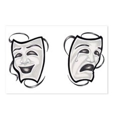 Comedy Tragedy Masks Postcards (Package of 8)