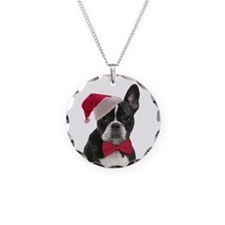 Santa Frenchie Necklace