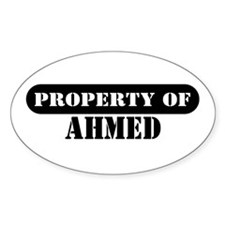 Property of Ahmed Oval Decal