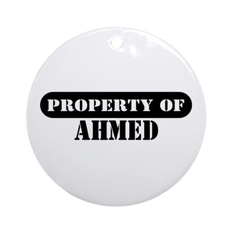 Property of Ahmed Ornament (Round)