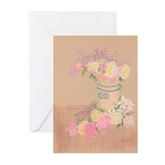 Country Urn Bouquet Greeting Cards (Pk of 10)