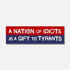 Nation of Idiots Car Magnet 10 x 3