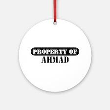 Property of Ahmad Ornament (Round)
