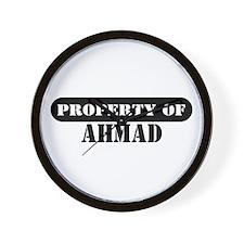 Property of Ahmad Wall Clock