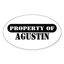 Property of Agustin Oval Decal