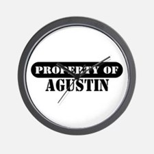 Property of Agustin Wall Clock