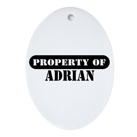 Property of Adrian Oval Ornament