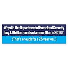 DHS Ammunition Bumper Bumper Sticker
