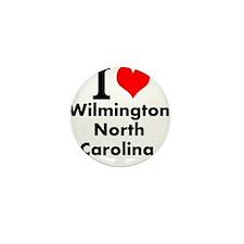 I (heart) Wilmington, North Carolina Mini Button