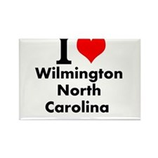 I (heart) Wilmington, North Carolina Magnets