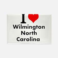 I (heart) Wilmington, North Carolina Magnets