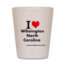 I (heart) Wilmington, North Carolina Shot Glass