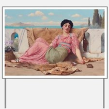 The Quiet Pet by John William Godward Yard Sign