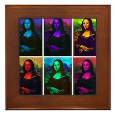 Mona Lisa Multicolor Framed Tile