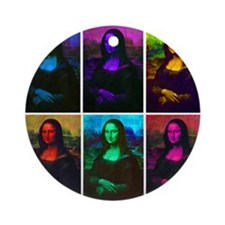 Mona Lisa Multicolor Ornament (Round)